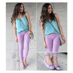 Pastel color-blocking! found on Polyvore