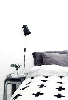 Via NordicDays.nl | Bedroom | Pia Wallen Cross Blanket | Frokenform