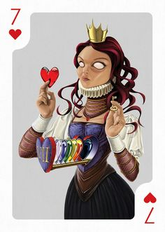 Seven of Hearts - by Rob Snow | Playing Arts Collaborative Art Project