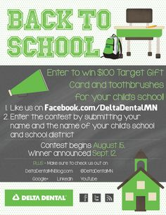 Enter to #WIN a $100 Target gift card for #BacktoSchool AND #toothbrushes for an entire school!