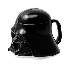 Star Wars Mug - Darth Vader Helmet Ceramic Figural Coffee Mug with Removable Lid - 20 oz Star Wars Mugs, Star Wars Darth, Darth Vader, Outdoor Gadgets, Ceramic Materials, Unusual Gifts, Vader Helmet, The Hobbit, Hot Chocolate