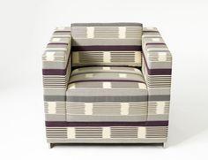 KnollTextiles Ikat Stripe upholstery by Dorothy Cosonas @KnollTextiles