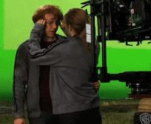 Unedited version of Hermione and Ron seeing each other after the 7 Harry's