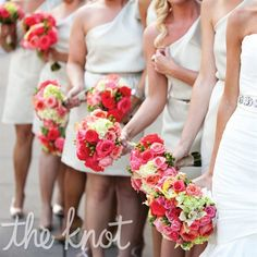 bouquets...pink/green/white
