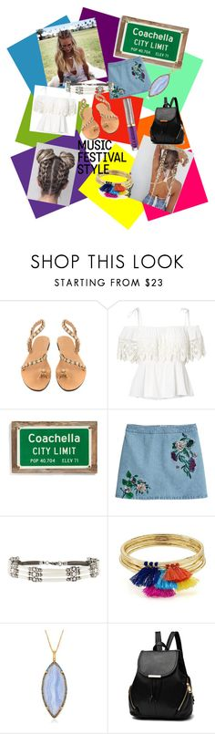 """""""fun festival"""" by ana28928 ❤ liked on Polyvore featuring Ralph Lauren, Poncho & Goldstein, H&M, Accessorize, Aqua, Alexandra Alberta and Urban Decay"""