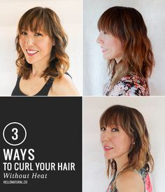 3 Ways To Get Boho Waves Without Heat Hello Glow how to style naturally wavy hair without heat - Natural Hair Styles Natural Hair Haircuts, Natural Hair Blowout, Blowout Hair, Natural Wavy Hair, Natural Hair Styles, Curly Hair, Curls Without Heat, Curls No Heat, Heat Waves
