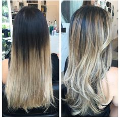 Dark brown to blonde ombré and balayage Balayage Hair Brunette Long, Balayage Hair Purple, Brown To Blonde Ombre, Ombre Balayage, Bayalage, Brown Hair, Blonde Hair, Lip Sense, Jessica Alba