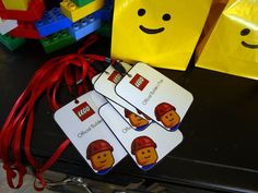 Cute Builder's Pass for the kids at my Lego Duplo House Party. I have some leftover lanyards from Quintin's birthday party I could use to put the design in, but I might customize it with each kids' name. Lego Movie Party, Lego Themed Party, Lego Birthday Party, Boy Birthday Parties, Birthday Ideas, 5th Birthday, Lego Ninjago, Ninjago Party, Lego For Kids