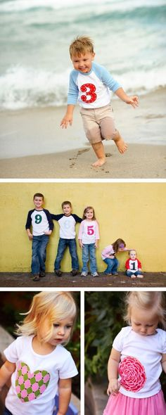 fairly simple shirt - good idea to remember ages in pictures