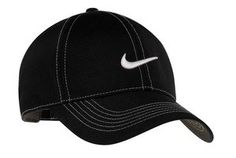 Nike Golf Swoosh Front Cap  Black 333114 OSFA -- Details can be found by clicking on the image.