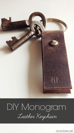 This DIY~Monogram Leather Keychain is a perfect gift idea for anyone on your list.  And what better way to personalize it then with their very own initials?! Hey all!!  Thank you so much for visiting today.  I don't know about you guys but I have a handful of people on my holiday gift giving list …
