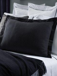 ralph lauren chairman bed collection pinstripe sham pillow setluxury bedding
