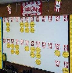 """check out this darling popcorn word-wall! it would be perfect for a circus classroom... or any classroom! remember, popcorn words are words that """"POP!"""" into your mind!"""