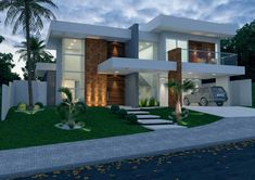 Our Top 10 Modern house designs – Modern Home House Front Design, Modern House Design, Modern Exterior, Exterior Design, Residential Architecture, Architecture Design, House Elevation, Modern House Plans, Facade House