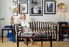 Carolina Herreraaffectionately called Mrs. H in the officein her design studio on Seventh Avenue in New York Citys Garment District.