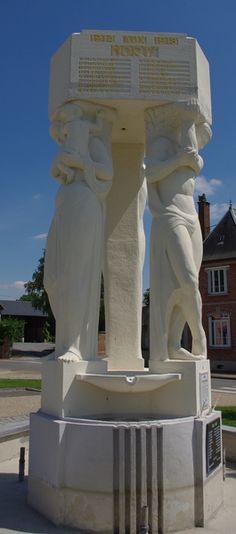 Monument aux morts de Jussy .  Aisne. Picardie