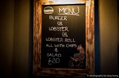 Burger or Lobster, 29 Clarges Street, London - no reservations. They only do burgers, lobsters (steamed or grilled) and lobster rolls.
