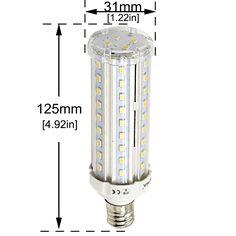 Stariver Corn Light LED Dimmable, Warm White 2800K, 15W E26 Medium Screw Base T10 Tubular Bulb 100W Incandescent Equivalent for Chandelier Lamp Wall(2-Pack)