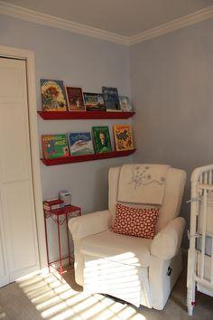 Photo Ledges for Books  Boy Nursery
