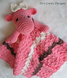 Ravelry: Hippo Huggy Blanket Crochet Pattern pattern by Teri Crews.