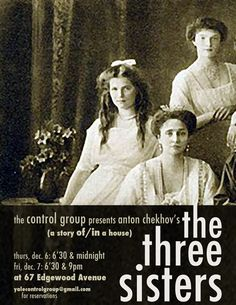 3 sisters poster..& I LOVE Chekhov!