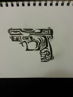 To all of you who love tribal and guns.. heres a little something I sketched out that you could tattooo to yourself :)
