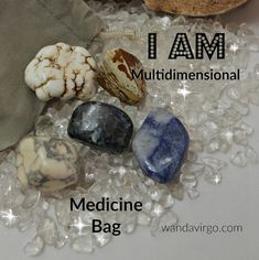 Akashic Crystal Medicine Bag I AM Remembering all the aspects of who I AM and I accept that I AM a Multidimentional being by CrystalVibrations06 on Etsy $12.12 #crystals #multidimensional http://wandavirgo.com