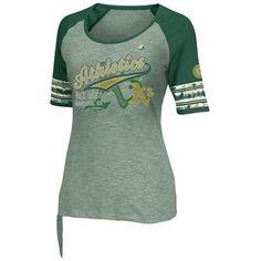 Majestic Oakland Athletics My Favorite Game Fashion Slim Fit T-Shirt - Green