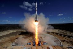 28 APR: Russia has launched the first rocket from its new Vostochny cosmodrome following a 24-hour delay that drew the ire of President Vladimir Putin. The launch of the Soyuz was watched by Mr Putin who had flown 5500km (3500 miles) to the country's Far East for the event. The Vostochny cosmodrome was built to reduce dependency on the Baikonur launch site in Kazakhstan. The unmanned rocket is carrying three satellites. It left Earth at 05:01 Moscow time (02:01 GMT). The initial attempt at…