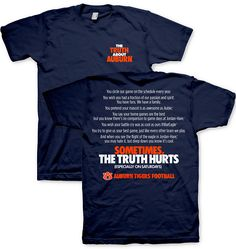 f1919279 The Truth About Auburn Tigers Football - Game Day Tee Football Tailgate,  Sec Football,