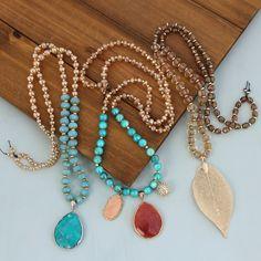 Beaded bohemian necklaces designed by Denise Yezbak Moore