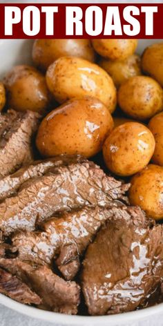 Melt-in-your-mouth tender pot roast with potatoes, barley AND rich gravy, all cooked in ONE pot in less than 90 minutes! No magic here, just Instant Pot is doing its job! #busycooks #dinner #potroast #instantpot #potroastrecipe #comfortfood Pot Roast Recipes, Skillet Recipes, Potato Recipes, Easy Dinner Recipes, Beef Recipes, Pressure Cooker Roast, Pressure Cooker Recipes, Cooking A Roast, Cooking Time