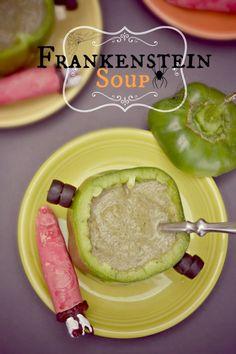 Roasted Cauliflower and Chard Soup (Halloween soup)