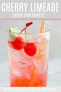 Tastes better than Sonic's! Super easy to put together, only 3 ingredients needed. This cold, refreshing drink is a hit all summer long with both grown ups and kids. Perfect for serving at a BBQ or for relaxing on a hot day. Drink Recipes Nonalcoholic, Easy Alcoholic Drinks, Drinks Alcohol Recipes, Yummy Drinks, Cocktail Recipes, Fruit Recipes, Recipies, Refreshing Summer Drinks, Summertime Drinks