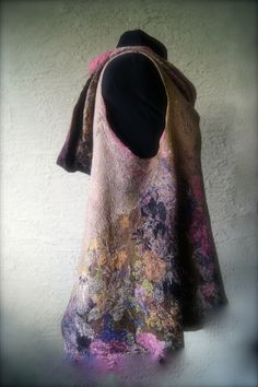 New nuno felted pattern for a hoodie vest