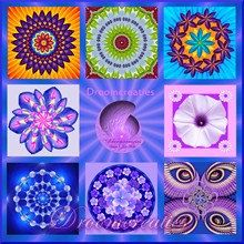 Wishcard set mandala 3  set of 8 cards with by Droomcreaties, €18.00