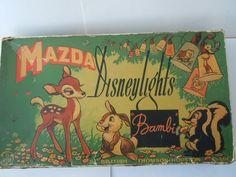 Mazda Disneylights Bambi Set (1940's)