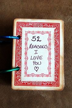 My homemade anniversary gift easy and so sweet take a deck of a good idea to tell your loved ones the reasons you love them this valentine day via wedding inspirasi pinterest solutioingenieria Choice Image