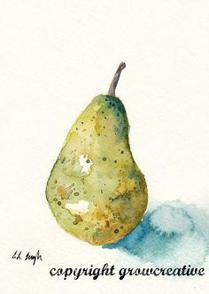 Grow Creative: More Watercolor Fruit