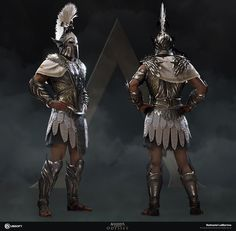 After looking at the concept, I imagined an armor that captured the pure grace that's associated with the mythical Pegasus. Fantasy Character Design, Character Design Inspiration, Character Concept, Character Art, Assassins Creed Art, Assassins Creed Odyssey, Armadura Medieval, Roman Armor, Roman Warriors