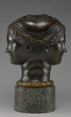 Double Head, bronze about 1543, Fontainebleau, France (Place created)     Attributed to Francesco Primaticcio (Italian, 1504 - 1570)