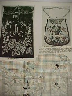 Beaded+Handbags+Patterns | Vintage Beaded Bag Purse Pattern Book Sophie La Croix Victorian ...