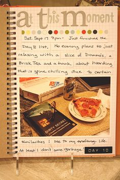Smash Book Page Inspiration: Document this moment in your life, no matter how ordinary.