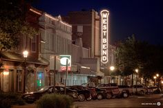 """The old West Bend Theatre, downtown West Bend, WI. The lights on the large """"West Bend"""" sign are still lit up at night even though the theatre is not operational. Beautiful Park, Beautiful Places, West Bend, Washington County, Home Again, Old West, Green Bay, Nature Photos, Small Towns"""
