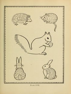 vintage embroidery pattern book with animals, monograms, interlacing knots, etc…