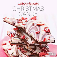 Christmas Candy Recipes  check out the chocolate bacon bark