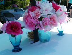 90th Birthday Party: Centerpieces.