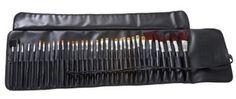 Amazon.com: MASH 34pc Studio Pro Makeup Make Up Cosmetic Brush Set Kit w/ Leather Case - For Eye Shadow, Blush, Concealer, Etc.: Beauty