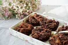 Karotten-Schoko-Muffins - eine guter Snack für unterwegs! Cereal, Healthy, Breakfast, Food Ideas, Carrot Muffins, Glutenfree, Road Trip Snacks, Meal, Food Food