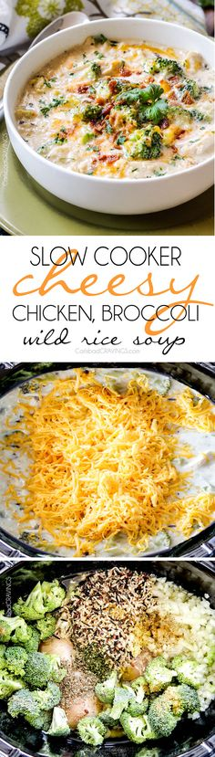 Cheesy Chicken, Broccoli, Wild Rice Soup is your favorite comforting casserole in soup form! Creamy, cheesy, seasoned to perfection and couldn't be any easier!